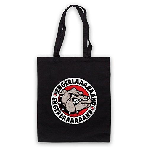 My Icon Art & Clothing English Bulldog England Parody Engerlaaaaaand Bolso Negro