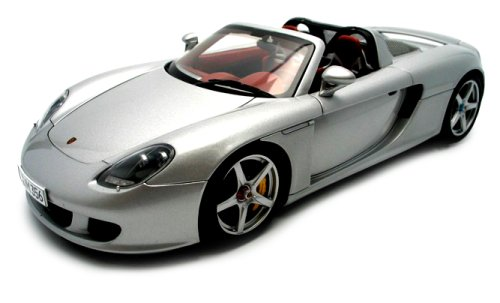 2005 Porsche Carrera GT diecast model car 1:18 scale die cast by AUTOart - Silver by AUTOart