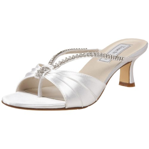 - Touch Ups Women's Phoebe Slide Sandal,White,8 W US
