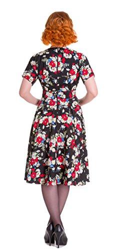 Mohnblüten Damen Blüten Heather Schwarz mit Hell Bunny Kleid vIqwxI5g