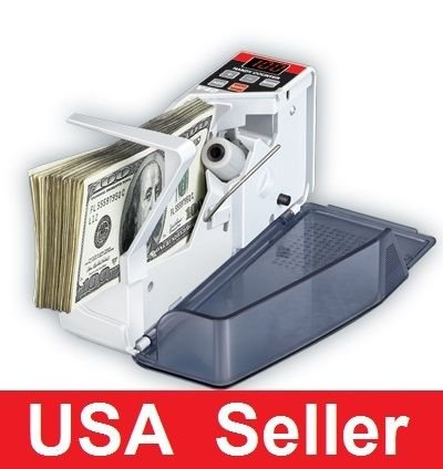 Portable Mini Bill Cash Count Money Currency Counter V40 power on battery / plug