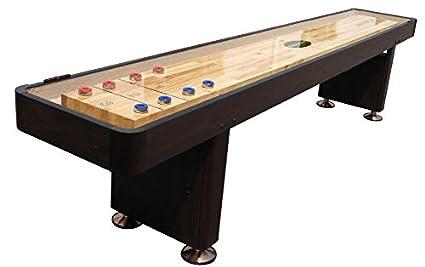 U0026quot;The Standardu0026quot; 12 Foot Shuffleboard Table In Espresso By Berner  Billiards