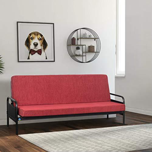Delite Kom Macy Single Metal Sofa Bed, SFBD_ASTE_L3_MA_BK