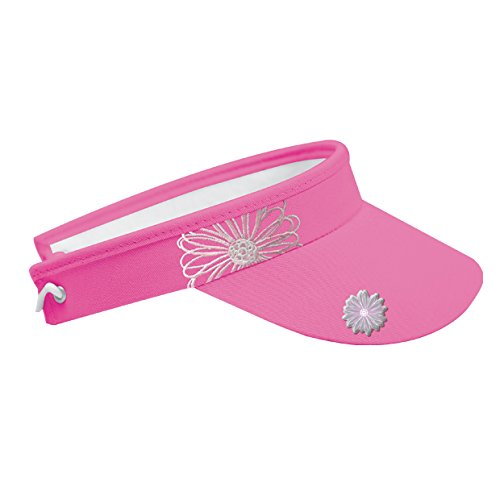 Surprizeshop Pink Embroidered Flower Golf Visor  Amazon.co.uk  Sports    Outdoors e2129c4a98e