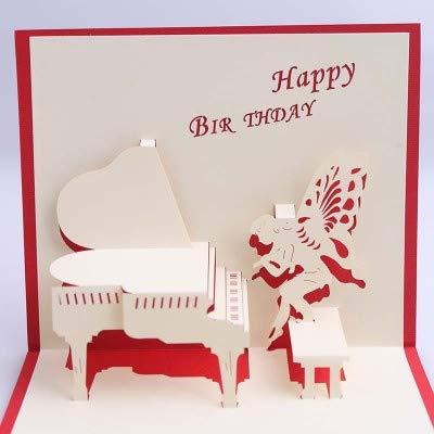 Amazon 3d paper pop up handmade happy birthday piano design 3d paper pop up handmade happy birthday piano design greeting cards for children kids friends girls m4hsunfo