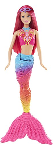 Barbie Mermaid Doll, Rainbow Fashion (Bath Mermaid Toy)