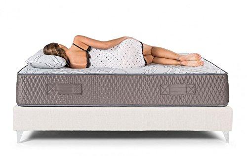 Bedland ▻ Colchón Viscoelástico ML 600, Color Gris y Blanco (135cm x 190cm). Colchón Muy Adaptable, de firmeza Intermedia y Transpirable.
