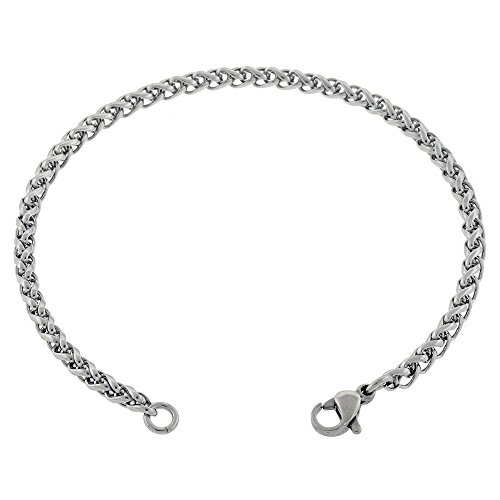 womens-thin-3mm-wheat-chain-braided-anklet-stainless-steel-7in-to-14in-10-inches