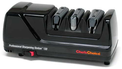Chef'sChoice 130 Professional Electric Knife Sharpening Station for Straight and Serrated Knives and...