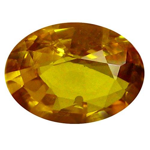 0.80 ct AAA Oval Shape (7 x 5 mm) Orange Yellow Ceylon Sapphire Natural Loose (Heated Yellow Sapphire)