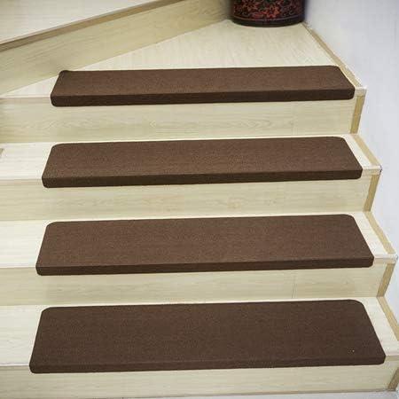 N-A Esterilla para escaleras 55 X 22Cm Juego de alfombras para escaleras Resistencia al Deslizamiento Escaleras Marrón Cojín Step Alfombra Suave 7 Piezas 55X22X4.5 (5 Piezas) Marrón: Amazon.es: Deportes y aire libre