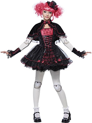 [California Costumes Victorian Doll Child Costume, X-Large] (Goth Costumes For Tweens)