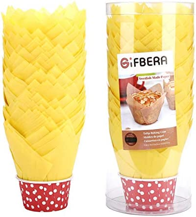 Gifbera Yellow Cupcake Swedish 100 Count