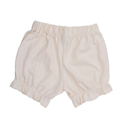 Price comparison product image no!no! Baby Girls Classic White Organic Cotton Bloomers 0-3M