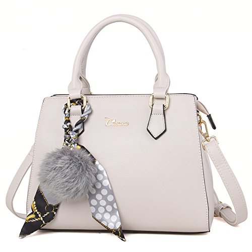 bandoulière simple Style Femmes Sac Gray Scarf New Ball LEODIKA Sac Lady'S Printemps main à Noir sac White Été Sac besace Rice WCgznWwqA