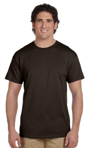 Hanes ComfortBlend® EcoSmart® Crewneck Men's T-Shirt - Brown Mens Shirt