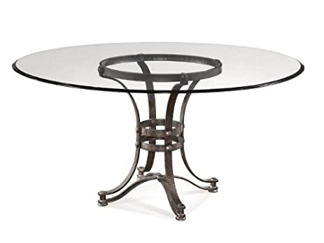 amazon com bassett mirror tempe round glass dining table w