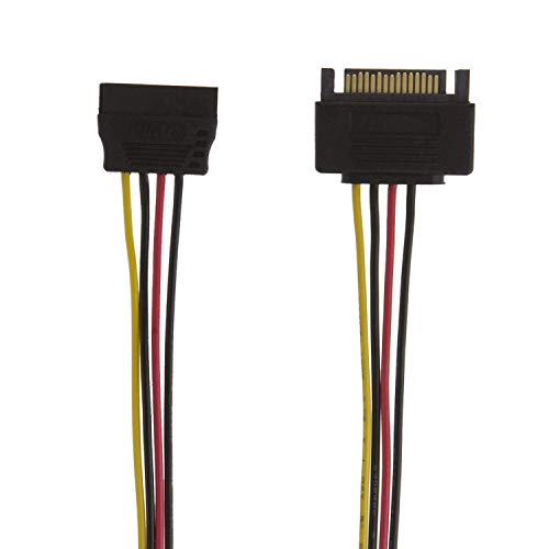 SATA Power Cable, CableCreation [5-Pack] 12-Inch SATA 15 Pin Male to SATA 15 Pin Female Cable