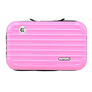 Fashionable Cosmetic Organizer Kit Portable Makeup Airline Case Luxury Toiletry Bag Intimate Artist Storage for Cosmetics Exquisite Cosmetic Bag (Pink)