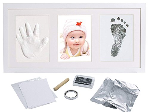 Baby Hand and Foot Print Kit - with Clay and Ink - All That You Need to Create That Perfect Baby Hand Print and Foot Print Memory - Best Babyshower and Gift for That Perfect Newborn ()