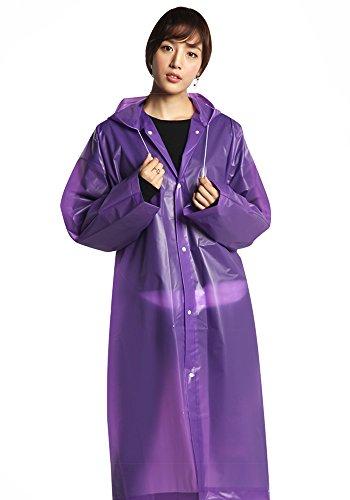 Bozevon Alpinismo Rosa Unisex Viola Campeggio Riutilizzabile All'aperto Impermeabile Adulto Con Rainwear Cappuccio Cappotto BttPxnr