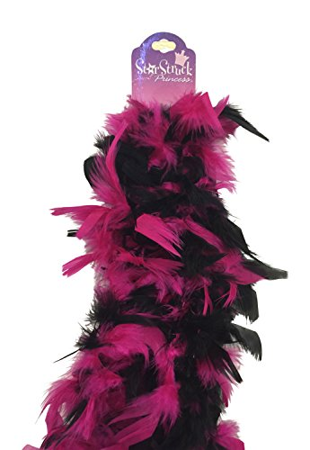 Deluxe Feather Boa (6ft) Black Fuchsia Pink Princess Tea Party Dress Up Costume