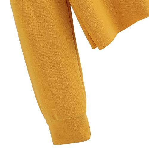 Autunno Sweatshirt Elegante Calcio Felpe Tumblr Crop Camicette Maglione Lunga Pullover Homebaby T Sportiva Maglietta Top Giallo Fitness Shirt Donna Yoga Striscia Cotone Corte Ragazza Manica 0dA4zwzIq