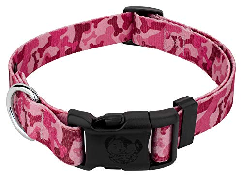 Country Brook Design Pink Bone Camo Deluxe Dog Collar - Large