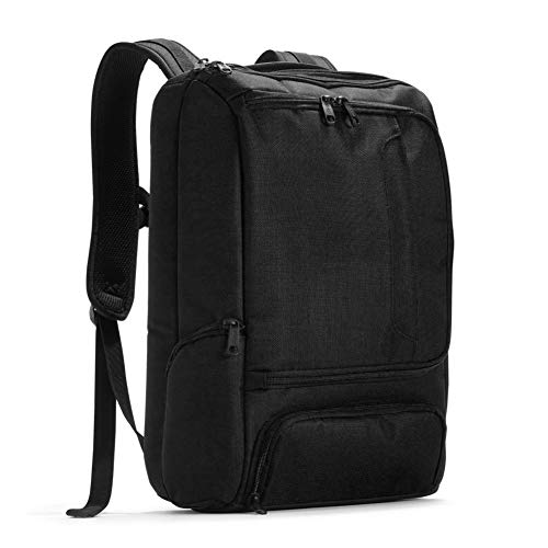 eBags Professional Slim Laptop Backpack for Travel, School & Business - Fits 17' Laptop - Anti-Theft - (Solid Black)