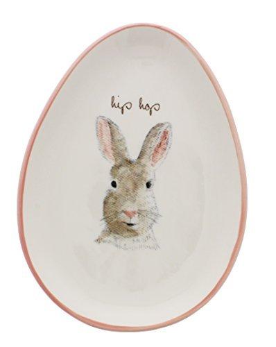 Rae Dunn by Magenta HIP HOP Bunny Egg Shape Appetizer Plate by Rae Dunn (Image #1)