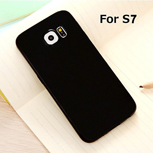 Galaxy S7 Jelly Case, ANLEY Candy Fusion Series - [Shock Absorption] Classic Jelly Silicone Case Soft Cover for Samsung Galaxy S7 (Solid Black) + Free Ultra Clear Screen Protector
