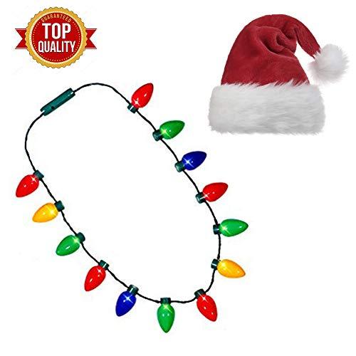 Santa Hats With Led Lights