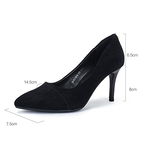 Mujer Sexy EU Zapatos Negro Black Zapatos Nightclub snfgoij WeddingDUSTO De 37 Mujer UK 4 9cm 5 Altos Rhinestone Moda Party Court Zapatos Tacones 0EwUwxFq