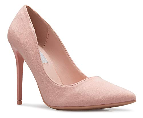 OLIVIA K Women's Classic D'Orsay Closed Toe High Heel Pump - Casual Comfortable (Shoe Heel Casual Sexy High)