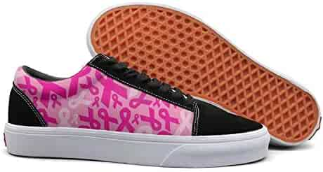 90c3d10a5af7bb PDAQS Pink Ribbon for My Grandma Breast Cancer Awareness Women Canvas Shoes  oldskoo Slip on Shoes