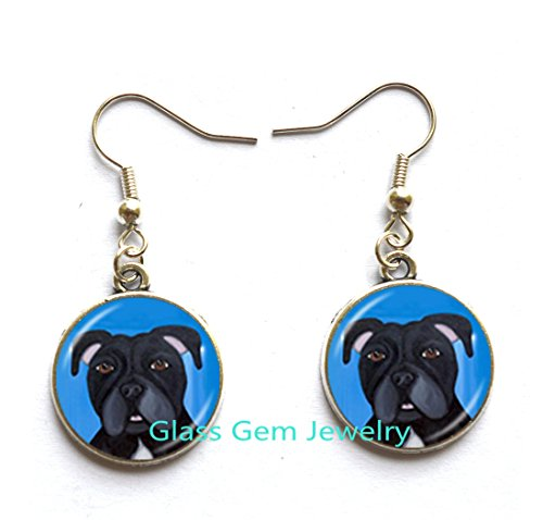 Pit Bull Dog Earrings American Pitbull Terrier Pet Puppy Rescue Stud Earrings Bulldog Jewelry for Animal Lover Accessories,Q0222