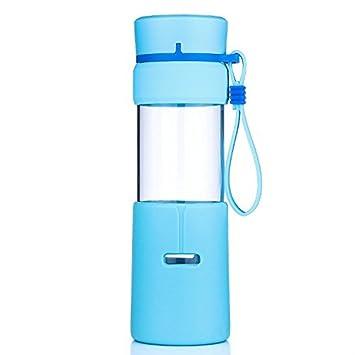 Uno es todo sb60059 400 ml botella de agua de cristal con silicona Sleev, deporte