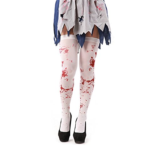 Crt Gucy Women's Cosplay Bloody Zombie Thigh Stockings Costume Hosiery For -
