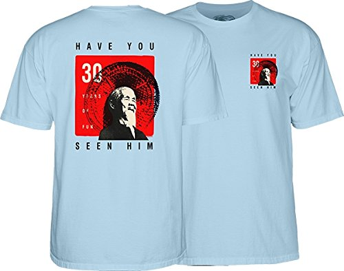 Powell Peralta Animal Chin 30 Years Light Blue Men's Short Sleeve T-Shirt - Small -  4TPOR0CHTH1S0B3
