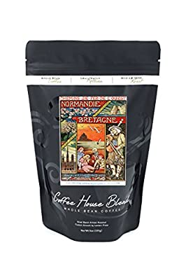 France - Scenic Sites of Normandy, Brittany, and Isle of Jersey; Ouest Railways Postcard (8oz Whole Bean Small Batch Artisan Coffee - Bold & Strong Medium Dark Roast w/ Artwork)