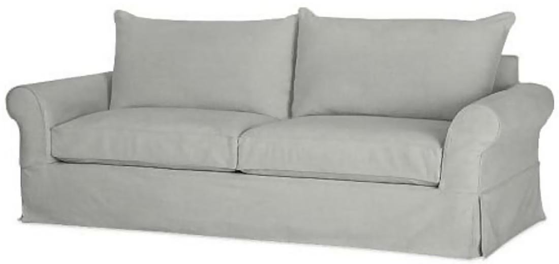 "The Cotton Sofa Cover Only ( Width: 81""~ 85"", Not 92"" ! ) Fits Pottery Barn PB Comfort Roll ARM Sofa ( Not Grand Sofa). A Durable Slipcover Replacement. Light Gray (Knife Edge)"