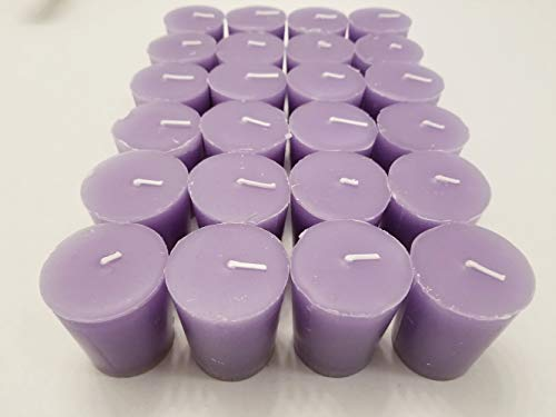 Old Candle Barn 24-Piece Votive Candles - Lavender Scented 15 Hour - Perfect Light Purple Votives - Hand Poured Made in USA