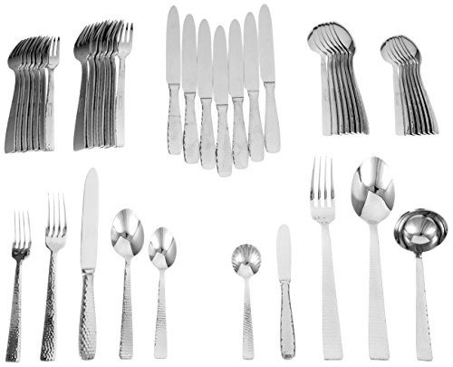 (Ricci Martello 45-Piece Stainless-Steel Flatware Set, Service for 8)