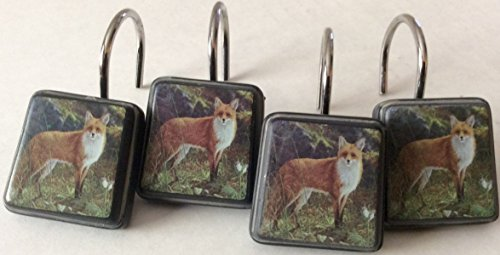 Morning Light Fox 12 Decorative Shower Curtain Hooks Hautman Brothers Collection
