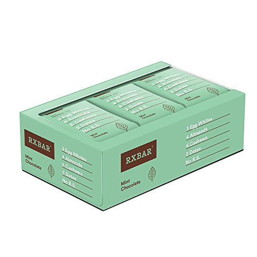 Large Product Image of RXBAR Whole Food Protein Bar, Mint Chocolate, Gluten Free, 1.83oz Bars, 12 Count