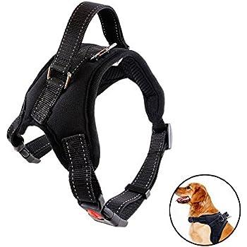a68b677108db Bello Luna Arnés para Perro Ajustable Refletive Chaleco de Perro con manija  y Silla Acolchada Style-Black M