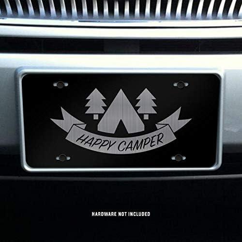 Happy Camper Vanity Front License Plate Tag KCE389