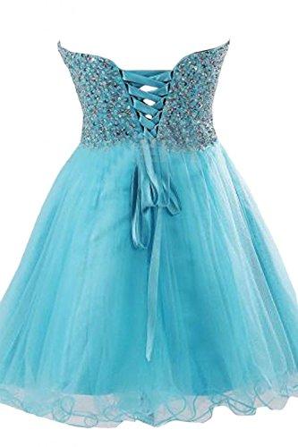 VILAVI Women's Ball Gown Sweetheart Short Tulle Homecoming Dresses 10 Light Sky Blue