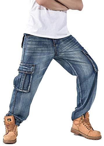 B1808 De Jeans Hombre Hop Style Pants Ropa Hipster Harem Denim Swq87qYd