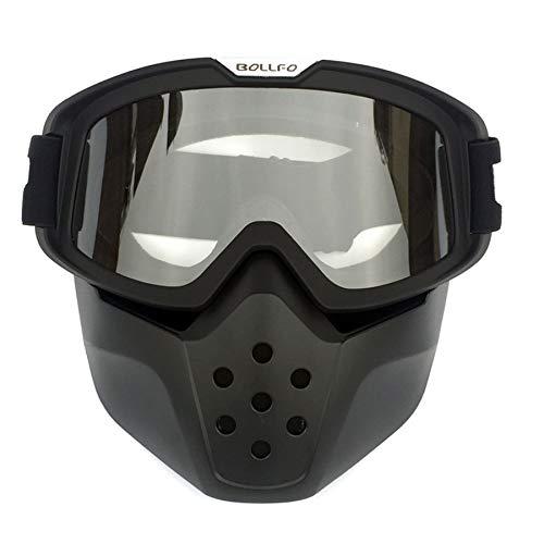 Yopria Motorrad Brille Mit Abnehmbarer Harley Stil Helm Nebelfest Winddicht Reiten Sonnenbrille Radfahren, Motorräder…